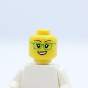 HEAD -Dual Female Green Glasses,Smile/Closed Mouth City LEGO® Minifigure
