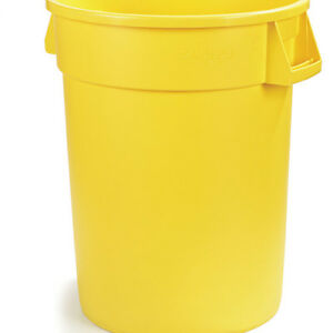Carlisle 34103204 Round Waste Container - 32 Gallon Cap., Yellow