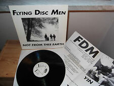 "FLYING DISC MEN ""Not From This Earth"" LP JELLY GERMANY 1988 - INSERT"