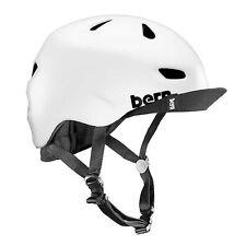 New Bern Brentwood Men Adult Bicycle Helmet w/ Visor SATIN WHITE L/XL: 57-60.5cm