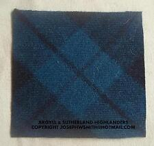 WW2 British Army Argyll & Sutherland Highlanders tartan Tam O Shanter TOS patch