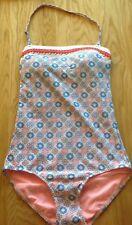 M & S - Pretty Patterned Halterneck/Bandeau Swimming Costume - Size 20 - BNWOT