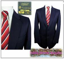 "M&S 2 piece mens suit Ch40""L W34"" L33"" Navy Vintage Made in UK"