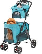 Luckyermore Pet Stroller Folding Cat Dog Cage Carrier Puppy Jogging Travel Cart