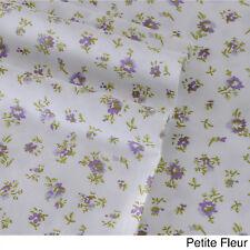 Laura Ashley Cotton Sheet Set KING Size PETITE FLEUR Pattern 300 Thread Count