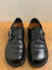 Birkenstock Footprints Mens Black Monk Strap Leather Shoes Size EU 40 US 7.5