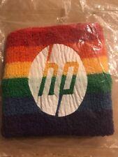 Vintage Hewlett-Packard HP Arm Sweat Band Rainbow Wrist Scrunchy