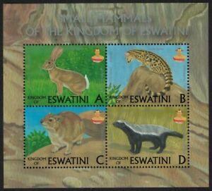 Swaziland Hare Badger Genet Small Mammals ESWATINI MS 2018 MNH