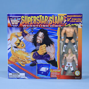 WWF Superstar Slam Ring - JusToys Bendems Figure Playset Austin Shawn Michaels