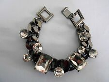 MOTHERS DAY  SALE Silver Pewter and Crystal Bracelet was $14.95 NOW $12