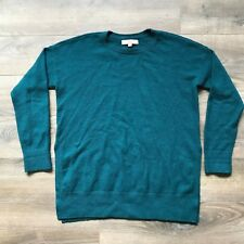Ann Taylor LOFT Tunic Sweater M Oversized Boxy Green Cotton Knit Medium Top