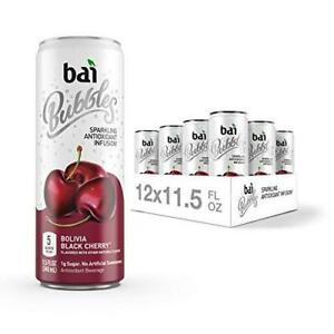 Bai Bubbles, Sparkling Water, Bolivia Black Cherry, Antioxidant Infused Drinks,