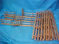 Orig 1920s Christmas Putz Village 12' of Wooden Fence Rustic Style Germany