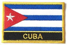 Cuba Embroidered Sew or Iron on Patch Badge
