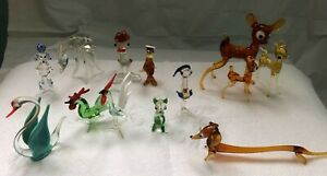 Vintage Blown Glass Animal Figurines (Miniature)