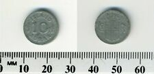 Iceland 1942 - 10 Aurar Zinc Coin - Crowned Arms - King Christian X - WWII - #1