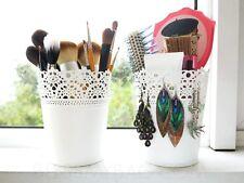 Container Makeup Brushes Plant Pot SKURAR IKEA OFF-White Color Bowl A2092