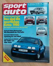 Sport Auto 10/1980 - Lancia Delta - BMW 316 - Saab 900 Turbo - Golf Turbo