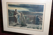 Antique The Return From Calvary Color Print-Herbert Schmalz-1906-Louis Wolf
