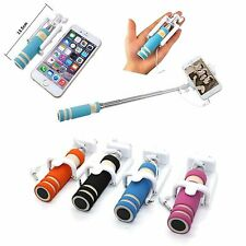 Mini Selfie Stick Monopod Wired Foldable Mobile Holder iPhone5/6Plus /S7 S8 /S5