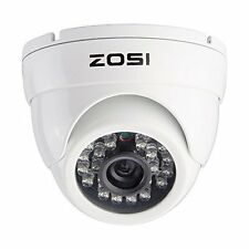 ZOSI CCTV 1000TVL 960H Security Video Dome Camera Outdoor 65ft IR Weatherproof