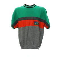 Vintage Kurzarm Sweatshirt Gr. M Sport Pullover Shirt Logo Retro Rundhals