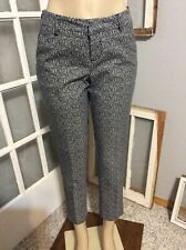 Liverpool Size 4 Print Skinny Ankle Pants Navy Blue