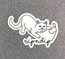 RipNDip Sticker THE UNKNOWN Cat Alien 3.5in si