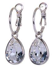 Earrings Rhodium Authentic 7256a Swarovski Elements Crystal Brilliance Teardrop