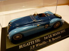 24H1M 1/43 IXO 24 heures du Mans BUGATTI 57G 1st 1937 winner Wimille/benoist