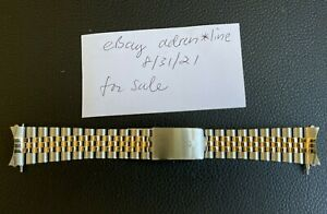 Genuine Rolex 62523 H1B Jubilee bracelet 18k yellow gold and stainless steel