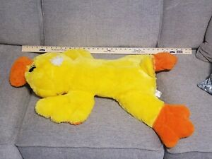 "Dan Dee Duck Plush Pillow 32"" Floppy BIG Stuffed Laying Down Easter jumbo large"