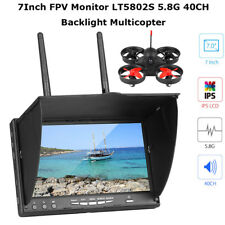 "7"" LCD HD FPV Monitor LT5802S 5.8G 40CH LED Backlight Multicopter w/ 2xAntennas"