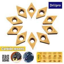 10PCS/Box DCMT070204 YBC251 Carbide Inserts For Lathe Turning Tool Boring  z
