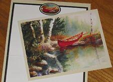 Calm Waters Robert Stump Art red canoe 2001 Lang Bookmark Deluxe Note Cards 5ct