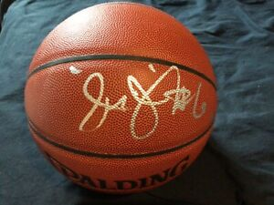 JULIUS ERVING DR. J SIGNED BASKETBALL I/O NBA ABA PHILADELPHIA 76ERS JSA COA