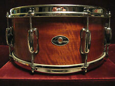 77 Slingerland Gorgeous African Ribbon Sapele 5 Ply 6.5X14 Snare Drum Collector!
