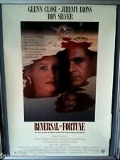 Cinema Poster: REVERSAL OF FORTUNE 1991 (US One Sheet) Jeremy Irons Glenn Close