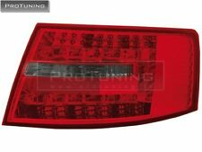 AUDI A6 4F C6 04-08 LED ROSSO Affumicato TAILLIGHTS TAIL LIGHT REAR BACK Lampada s6 Limousine