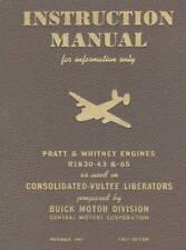 PRATT & WHITNEY R-1830 INSTRUCTION MANUAL / 1943