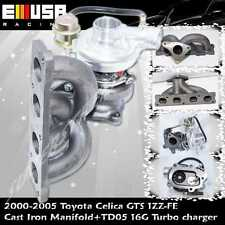 Cast Iron Manifold&TD05 16G Turbo fits 00-05 Toyota Celica GTS 1ZZ-FE Engine