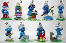 Collectible Complete 9 figures Set THE SMURFS KINDER SURPRISE 2008 NV 129-137