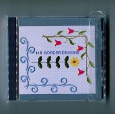 Janome Elna Kenmore Embroidery Machine Memory Card: Border Designs (1997) No 118