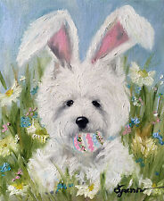 WESTIE EASTER BUNNY GARDEN FLAG FREE SHIP USA RESCUE