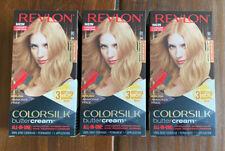 (3) Revlon Colorsilk Buttercream 90/81N Light Natural Blonde Hair Dye Color