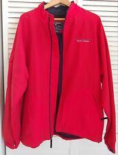Ralph Lauren Polo Sport Red Vintage Windbreaker Raincoat Jacket Large