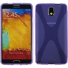 Coque en Silicone Samsung Galaxy Note 3 - X-Style pourpre + films de protection