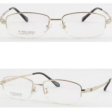Herren Brille Memory Titan Brillengestell Square Flexibel Metall Fassung Silber