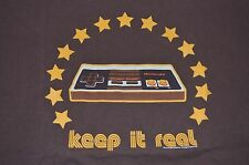 Nintendo Keep It Real Controller T-Shirt DS Gaming Wii Xbox Game Cube Size XL