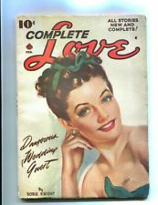 COMPLETE LOVE PULP-FEBRUARY-1947-GOOD GIRL ART-PIN UP! VG